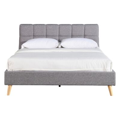 Orlando Fabric Platform Bed, Queen, Dark Grey