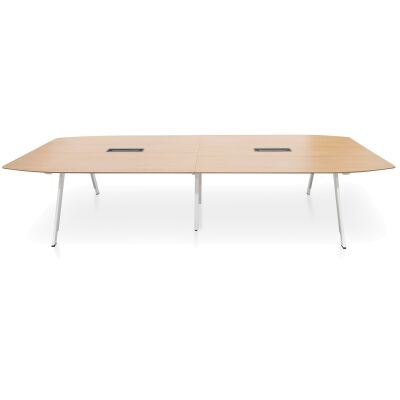 Svia Boardroom Meeting Table, 360cm, Natural / White