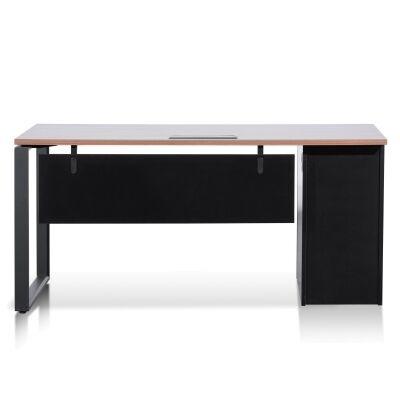 Lacasa Office Desk, 160cm, Walnut / Black