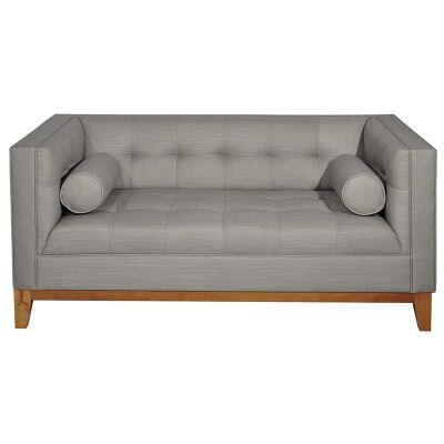 Calvin Fabric 2 Seater Sofa - Light Grey