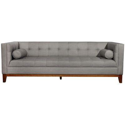 Calvin Fabric 3 Seater Sofa - Light Grey
