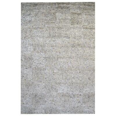 Ottawa Braided Modern Wool Rug, 230x160cm, Ash Grey