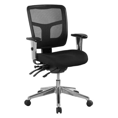 Oyster Fabric Multi Shift Office Chair, Low Back