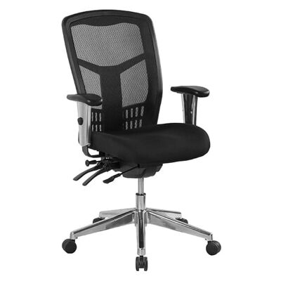 Oyster Fabric Multi Shift Office Chair, Mid Back
