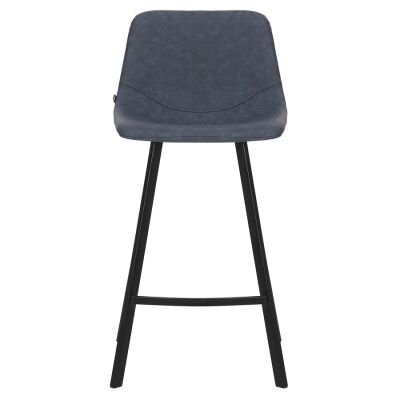 Orleans Commercial Grade Faux Leather Kitchen Stool, Navy