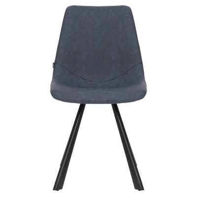 Orleans Commercial Grade Faux Leather Dining Chair, Navy
