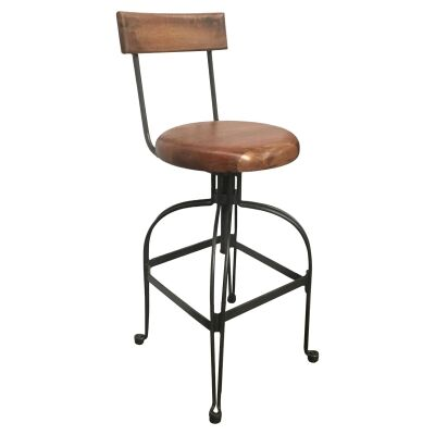 Iverson Timber & Metal Adjustable Counter / Bar Stool