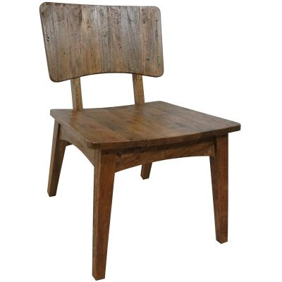 Provo Solid Mango Wood Timber Occasional Chair