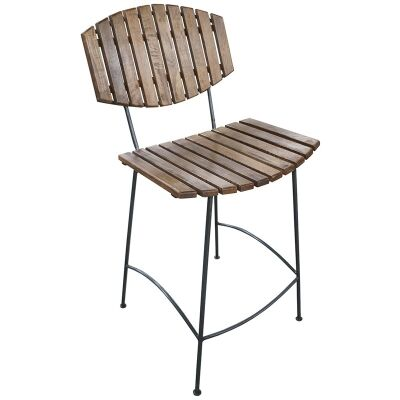McKay Timber Slatted Metal Counter Stool