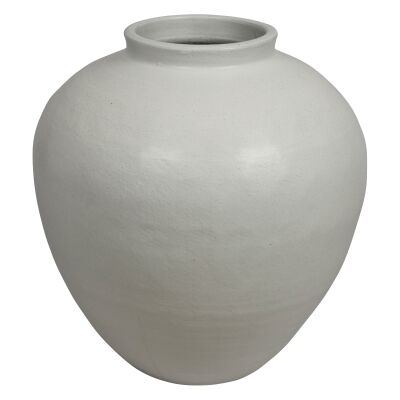 Milos Glazed Ceramic Pot, Medium