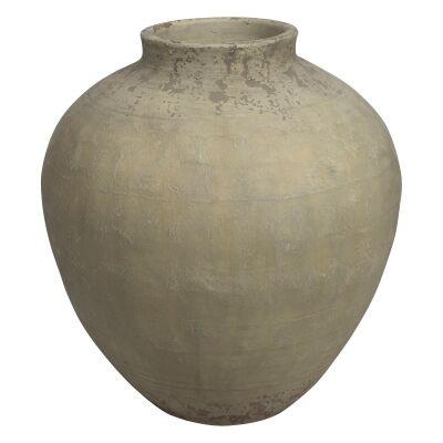 Milos Raw Ceramic Pot, Medium