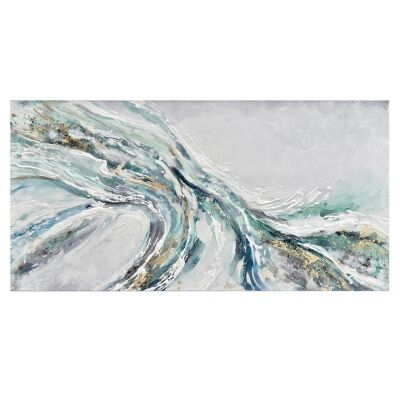 """""""Vortex"""" Stretched Hand Painted Abstract Canvas Wall Art, 120cm"""