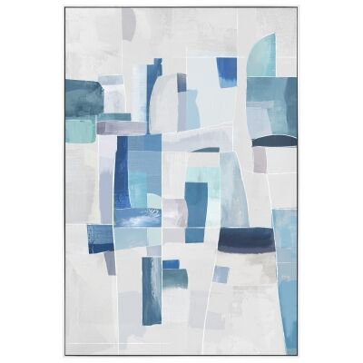 """""""Kalopsia"""" Framed Hand Painted Abstract Canvas Wall Art, No.1, 90cm"""