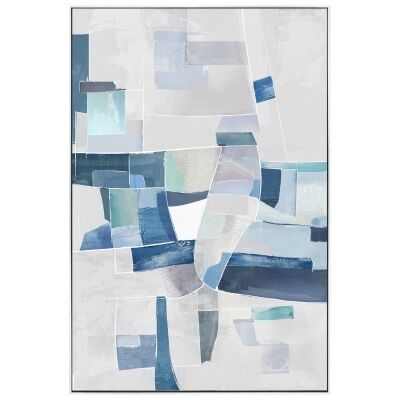 """""""Kalopsia"""" Framed Hand Painted Abstract Canvas Wall Art, No.2, 90cm"""