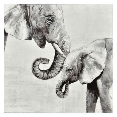 """""""Untamed Love"""" Stretched Hand Painted Canvas Wall Art, 90cm"""