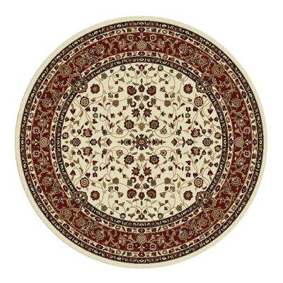 Palais Zari Oriental Round Rug, 200cm, Cream