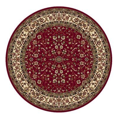 Palais Zari Oriental Round Rug, 200cm, Red