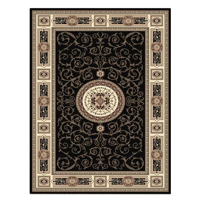 Palais Kashan Oriental Rug, 160x230cm, Black