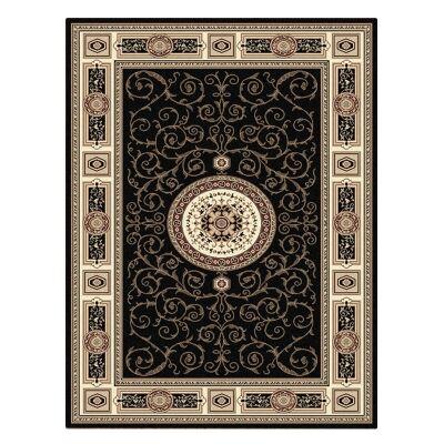 Palais Kashan Oriental Rug, 80x150cm, Black