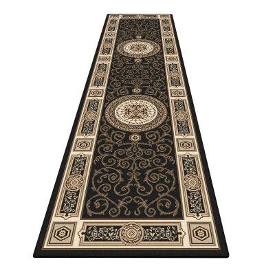 Palais Kashan Oriental Runner Rug, 80x300cm, Black
