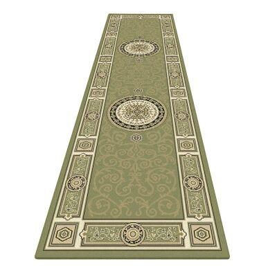 Palais Kashan Oriental Runner Rug, 80x300cm, Green