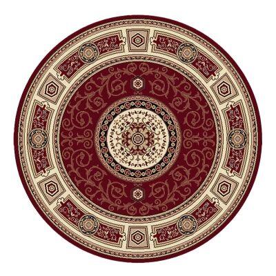 Palais Kashan Oriental Round Rug, 240cm, Red