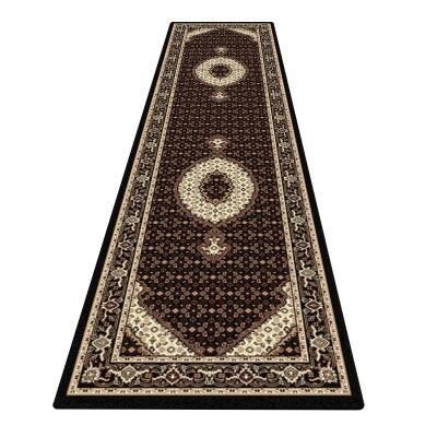 Palais Serapi Oriental Runner Rug, 80x300cm, Black