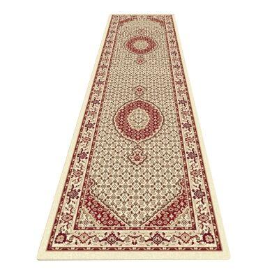 Palais Serapi Oriental Runner Rug, 80x300cm, Cream