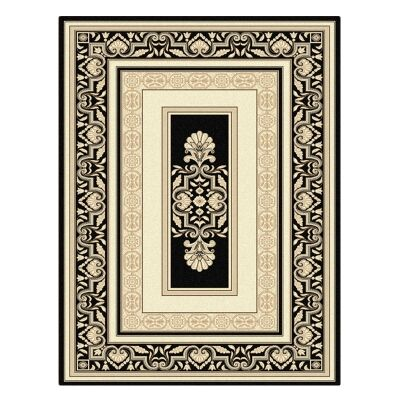 Palais Kirman Oriental Rug, 80x150cm, Black