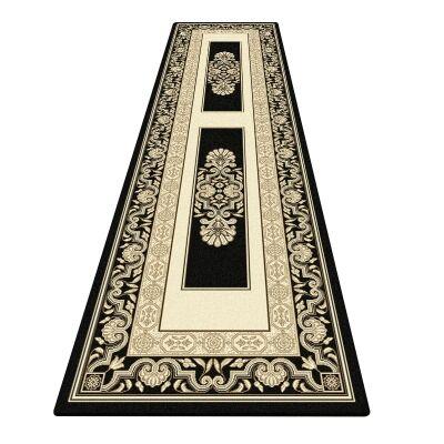 Palais Kirman Oriental Runner Rug, 80x300cm, Black