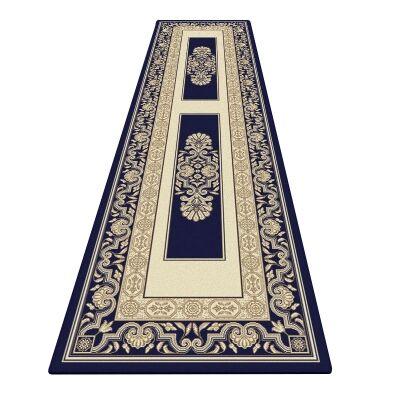 Palais Kirman Oriental Runner Rug, 80x300cm, Dark Blue