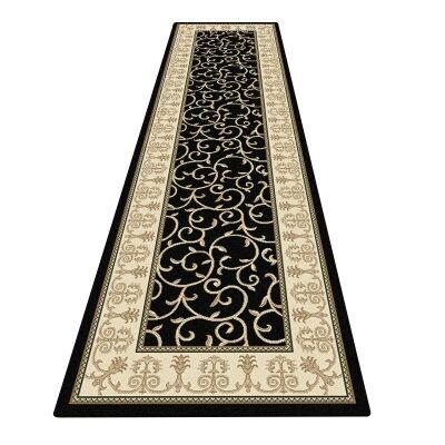Palais Kazak Oriental Runner Rug, 80x300cm, Black