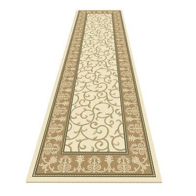 Palais Kazak Oriental Runner Rug, 80x300cm, Cream