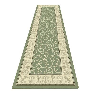 Palais Kazak Oriental Runner Rug, 80x300cm, Green