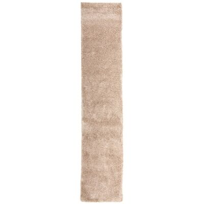 Pandora Polar Turkish Made Ultra Dense Soft Shag Runner Rug, 400x80cm, Beige