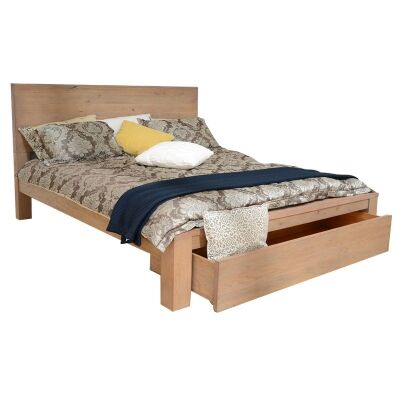 Prescot Mountain Ash Timber Platform Bed, Queen