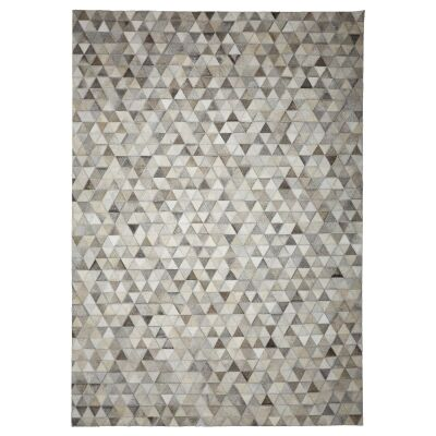 Parquet Triangles Hide Leather Rug, 290x200cm