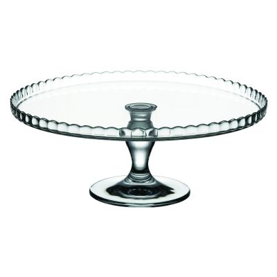 Pasabahce Patisserie Glass Cake Stand, Scallop Up