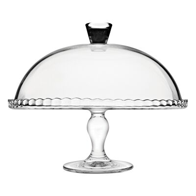 Pasabahce Patisserie Glass Cake Stand with Dome