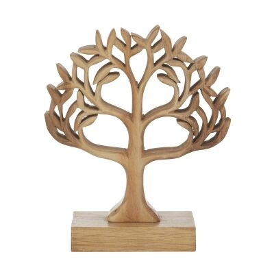 Tree Of Life Hand Carved Acacia Timber Sculpture
