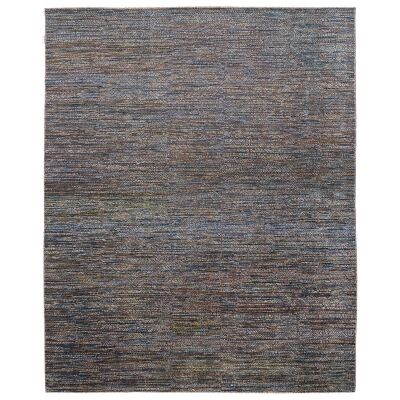 Perry Hand Knotted Wool Rug, 427x305cm, Grey / Blue