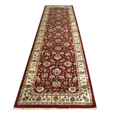 Nevada Sima Oriental Runner Rug, 80x300cm, Red