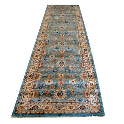 Nevada Dorsa Oriental Runner Rug, 80x300cm, Blue