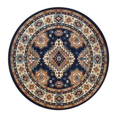 Nevada Shila Oriental Round Rug, 160cm, Navy