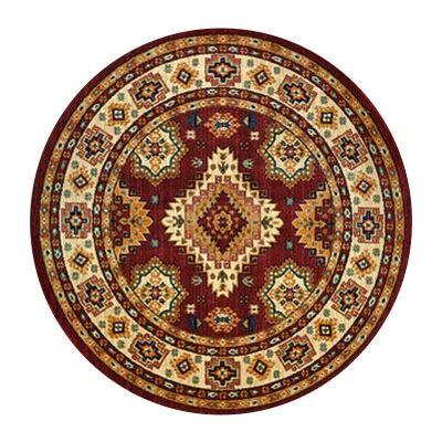 Nevada Shila Oriental Round Rug, 160cm, Red