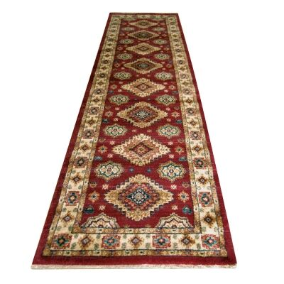 Nevada Shila Oriental Runner Rug, 80x300cm, Red