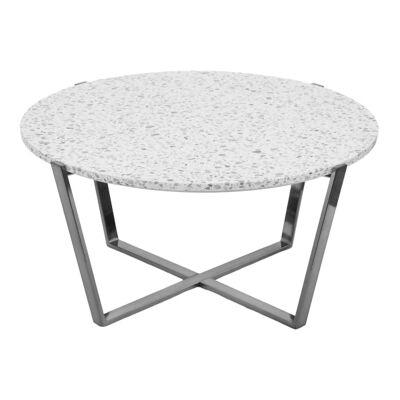 Preston Terrazzo Top Round Coffee Table, 90cm