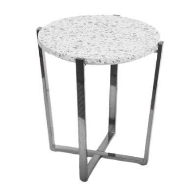 Preston Terrazzo Top Round Lamp Table