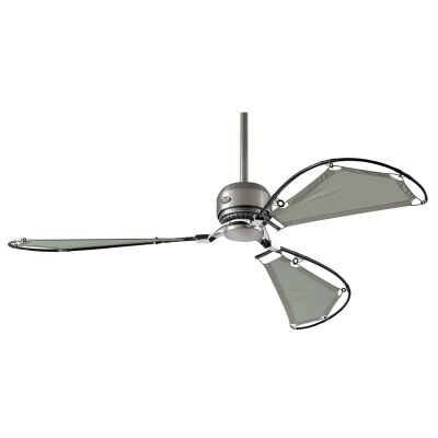 Hunter Avalon Commercial Grade Brushed Nickel Ceiling Fan with Grey Sailcloth Blades