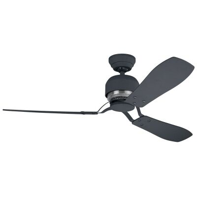 Hunter Industrie II Commercial Grade Graphite Ceiling Fan with Graphite / Chestnut Switch Blades